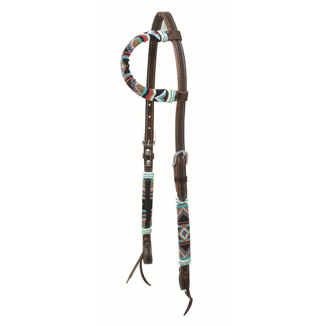 Cherokee Bead One Ear Headstall