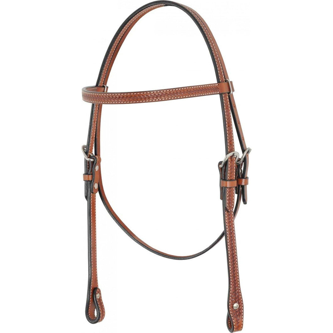 Browband Headstall with Basket Tooling