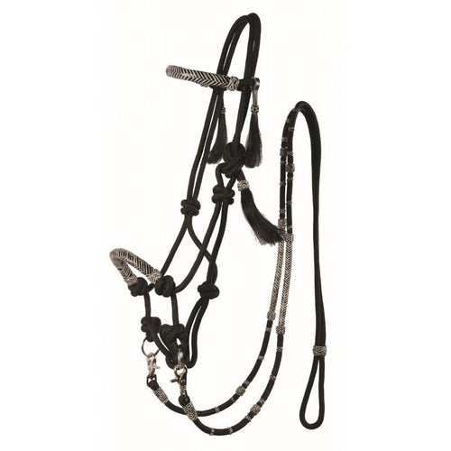 Country Legend Rawhide Rope Bridle with Reins - FG Pro Shop Inc.