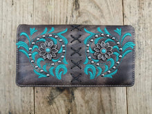 Load image into Gallery viewer, Flower Concho Wallet Turquoise - FG Pro Shop Inc.