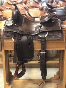 "Jim Taylor Custom Working Cow Horse Saddle 15.5"" - FG Pro Shop Inc."