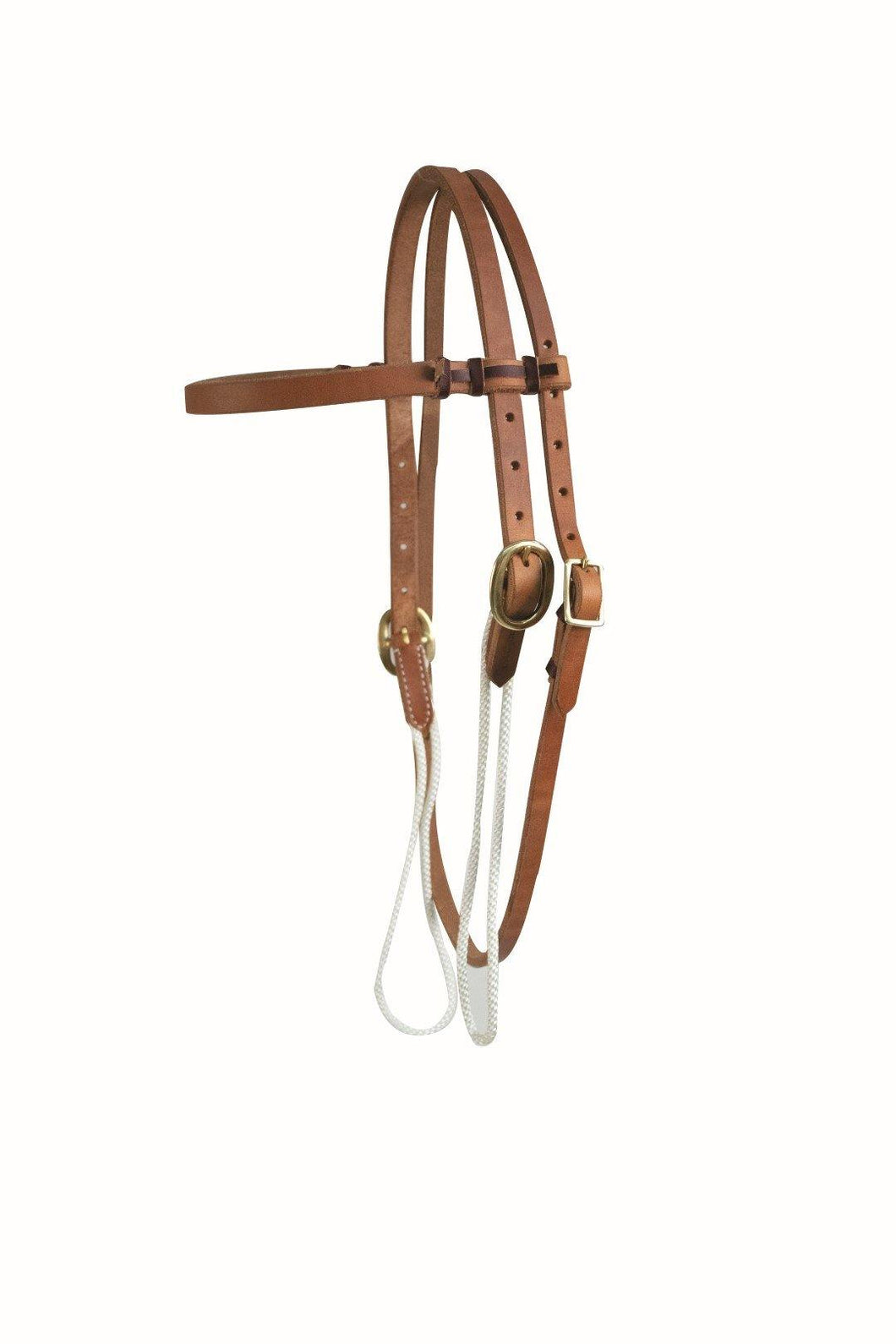Harness Leather Sliding Cheek Browband Headstall