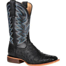 Load image into Gallery viewer, Durango Exotics FullQuill Ostrich Black Western Boot - Men - FG Pro Shop Inc.