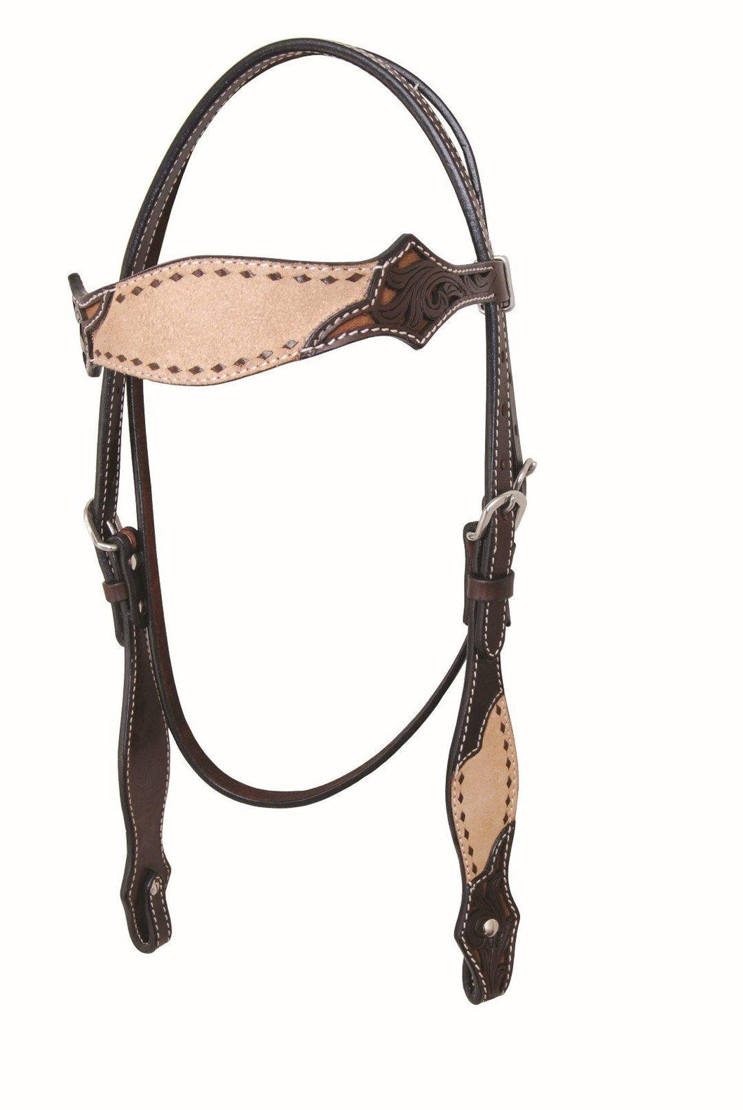 Rough Out & Buckstitch Browband Headstall