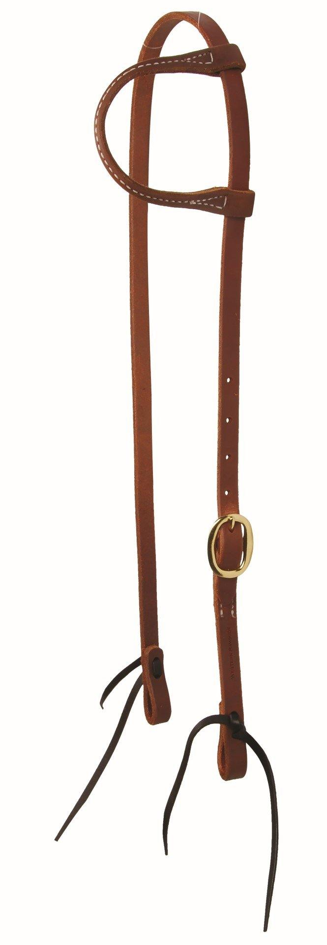 Training Ear Headstall with Ties-Brass Buckles