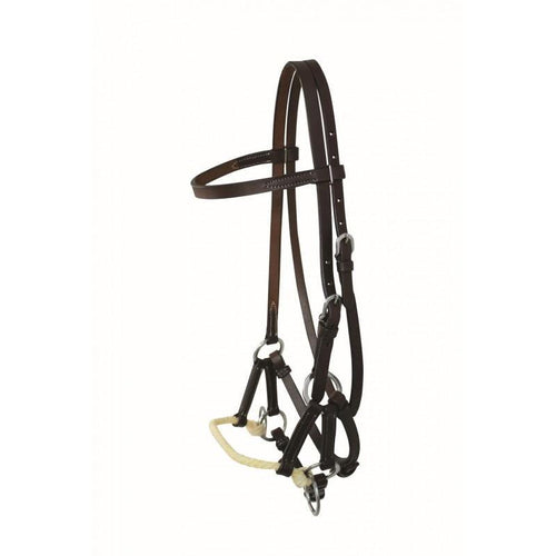 FG Pro Shop WESTERN RAWHIDE BY JIM TAYLOR LEATHER BROWBAND ONE ROPE SIDE PULL