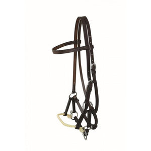 Leather Browband One Rope Side Pull By Jim Taylor - FG Pro Shop Inc.