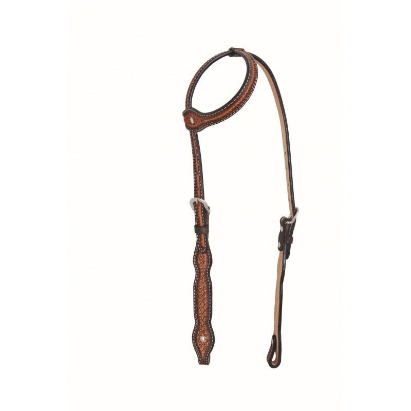 Diamond Series Scallop One Ear Headstall By Jim Taylor Performance