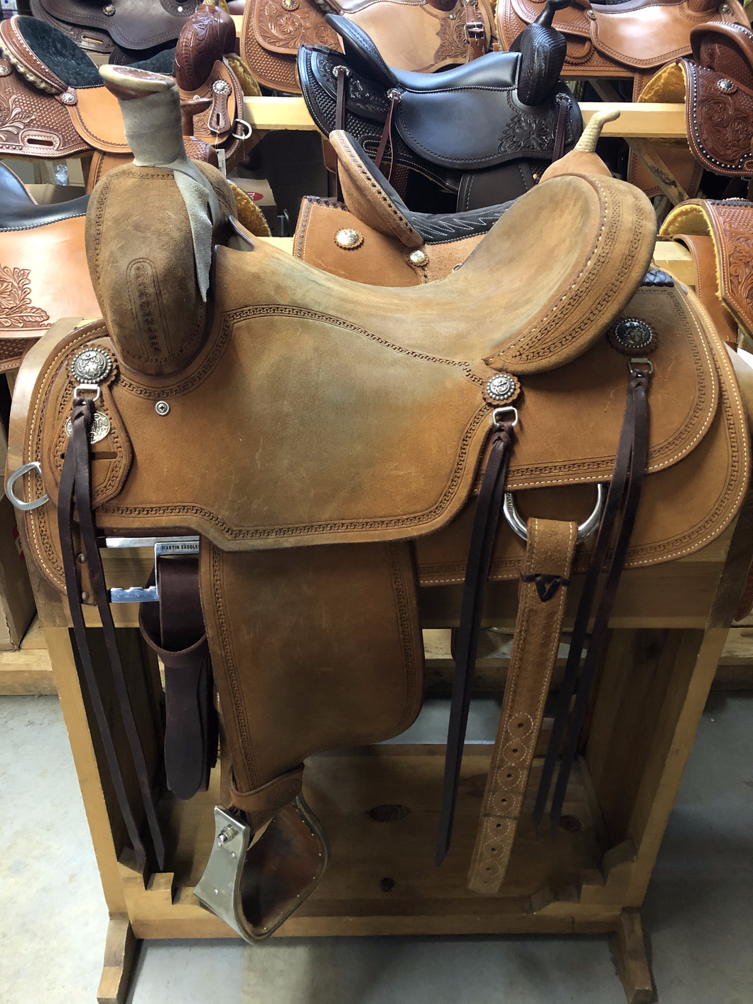 Used 16'' Martin Ranch Saddle X-Wide