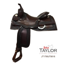 "Load image into Gallery viewer, Jim Taylor Custom Working Cow Horse Saddle 15.5"" - FG Pro Shop Inc."
