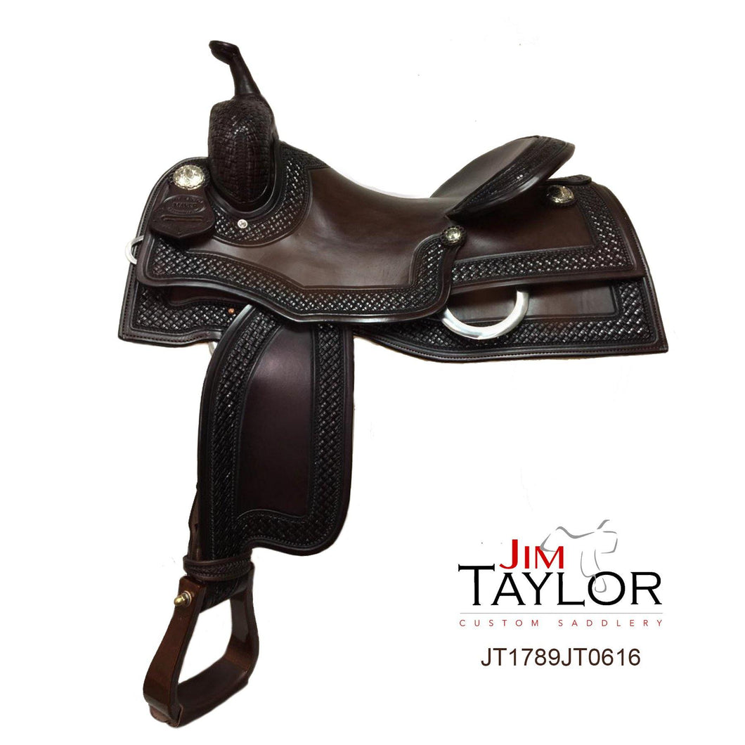 Jim Taylor Custom Working Cow Horse Saddle 15.5