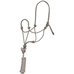 Mustang Economy Mountain Rope Halter and Lead