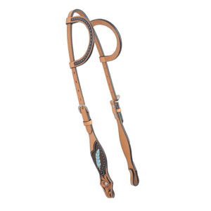 Country Legend Gator & Feathers Two Ears Headstall - FG Pro Shop Inc.