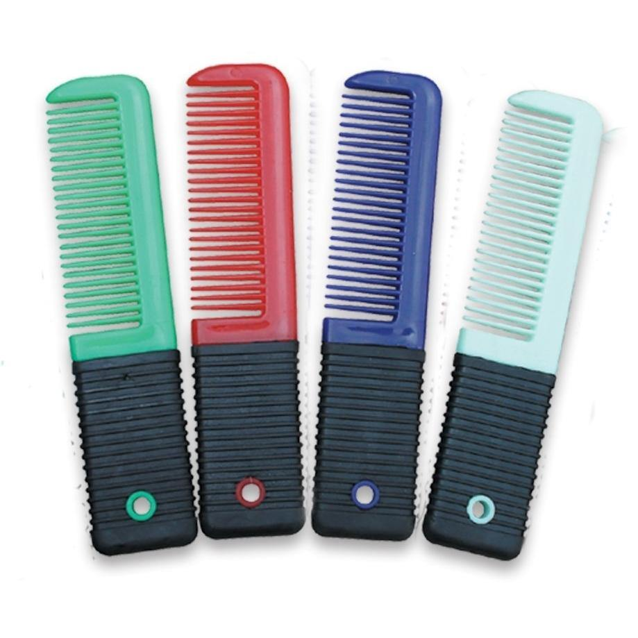 Mini Plastic Comb With Ribbed Grip