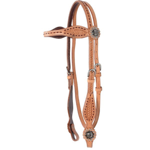 Country Legend Buckstitch/Basket Browband Headstall