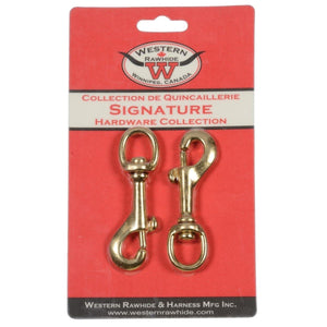 Round Eye Swivel Bolt Snap Heavyweight Solid Bronze
