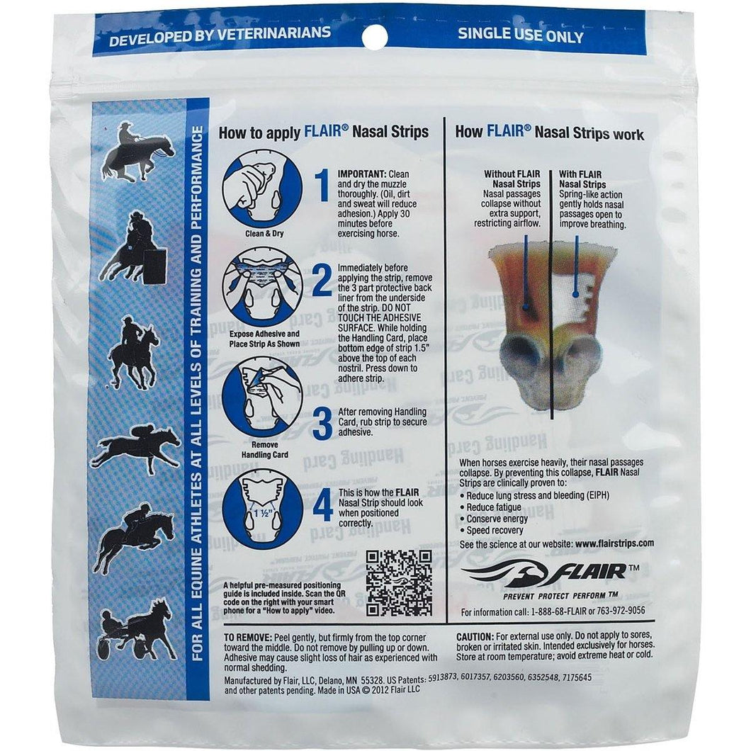 Flair Equine Nasal Strips Single Strip Single Strip