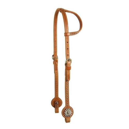 Harness Leather Straight Cheek Headstalls w/Stainless Rowels by Schutz Brothers - FG Pro Shop Inc.