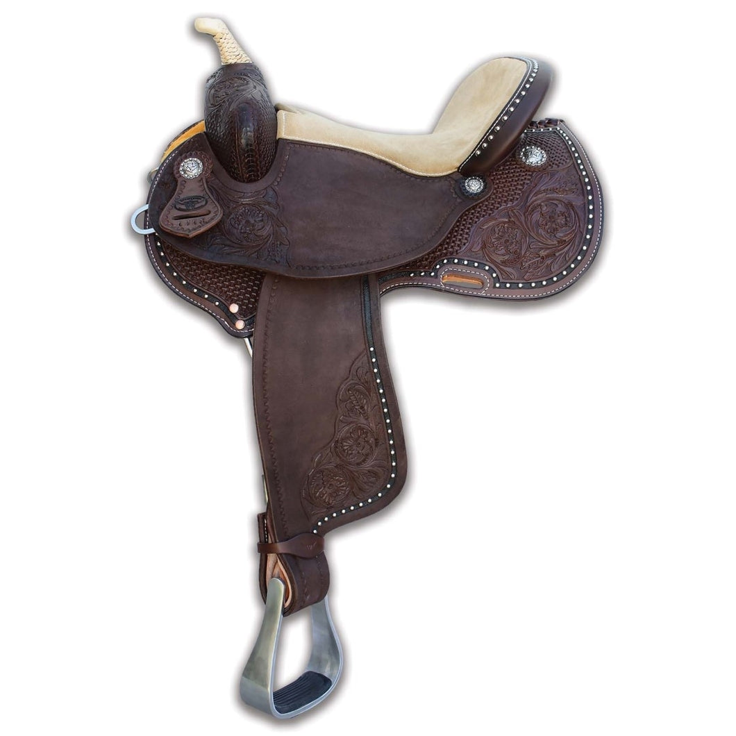 Dark Brown Brazilian Barrel Saddle