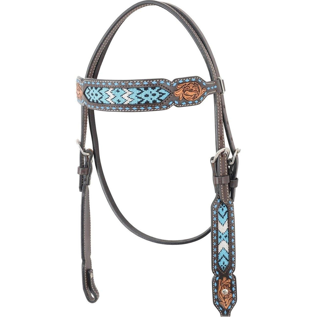 FG Pro Shop Browband Turquoise Headstall