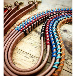 FG Pro Shop Harness leather braided barrel reins