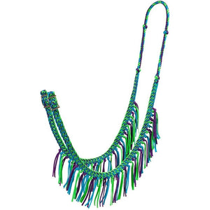 Nylon Braided Barrel Rein with Fringe