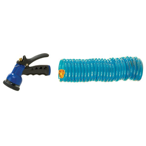 Coiled Plastic Hose with Sprayer
