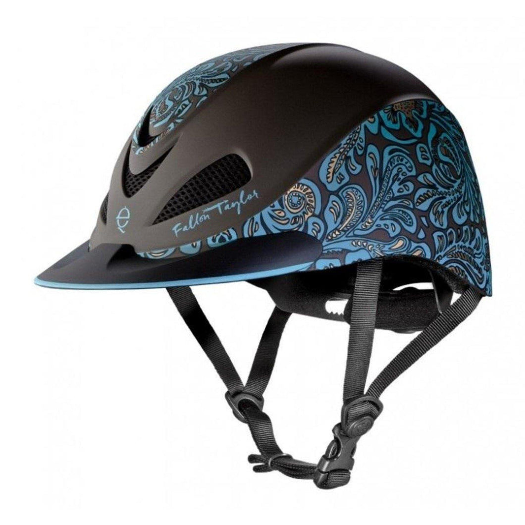 FG Pro Shop Troxel Fallon Taylor Western Helmet with Turquoise Floral Style
