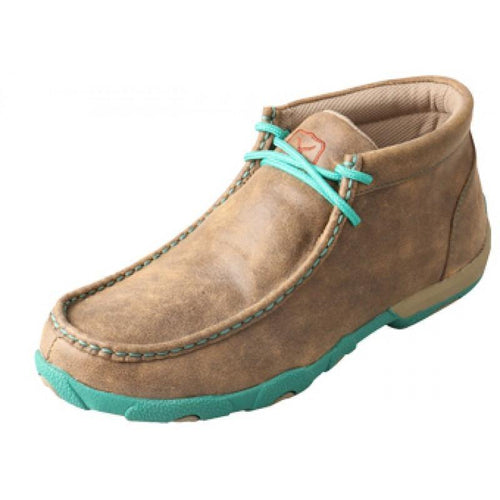 Womens Twisted X Bomber/Turquoise Driving Moccasins - FG Pro Shop Inc.