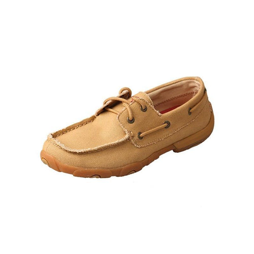 Womens Twisted X Khaki Canvas Driving Moccasins - FG Pro Shop Inc.