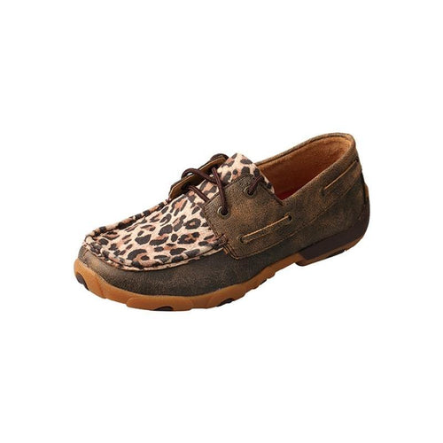 Womens Twisted X Distressed Leopard Driving Moccasins - FG Pro Shop Inc.