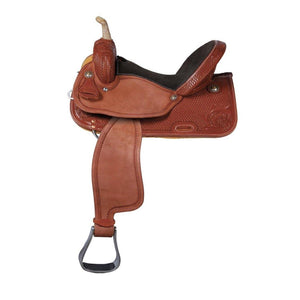 Logan Chestnut Pro Barrel Racer Saddle