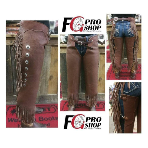 Cowboy Basic Chinks Brown - FG Pro Shop Inc.