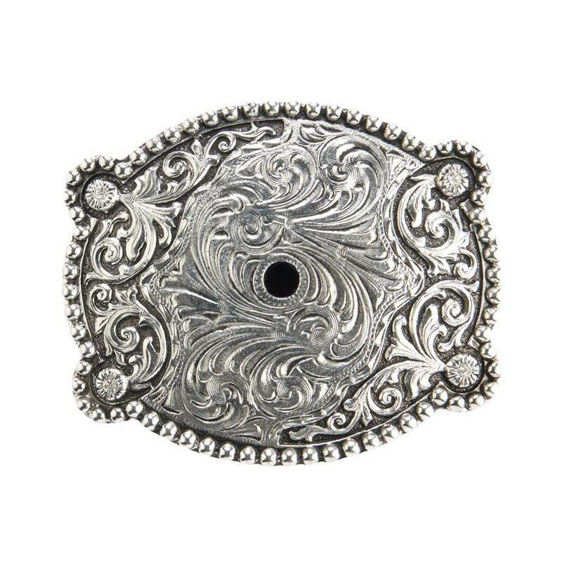 Womens Zinc Antique Silver Plated Belt Buckle