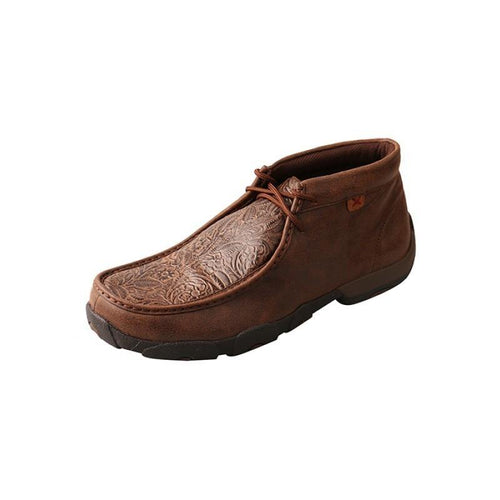 Mens Twisted X Brown / Brown Print Driving Moccasins - FG Pro Shop Inc.