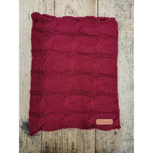 Load image into Gallery viewer, Crowellz Winter Warm Infinity Scarf Burgundy