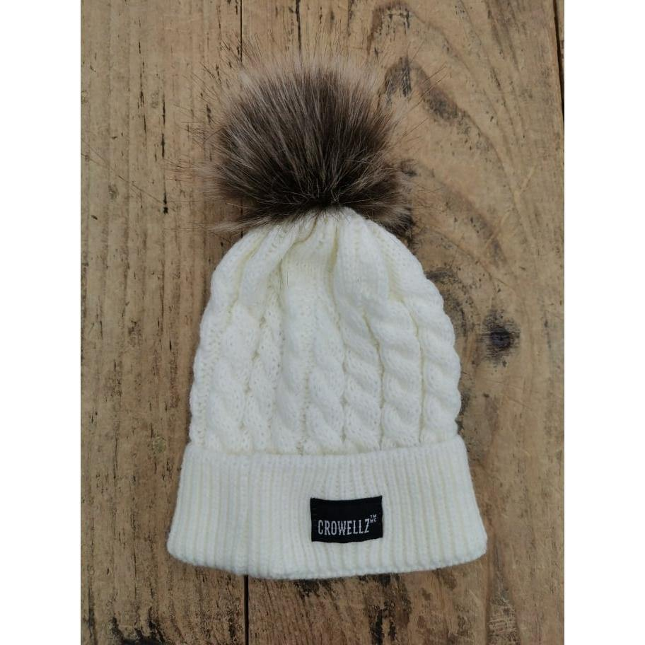 Crowellz Tuque Kids White