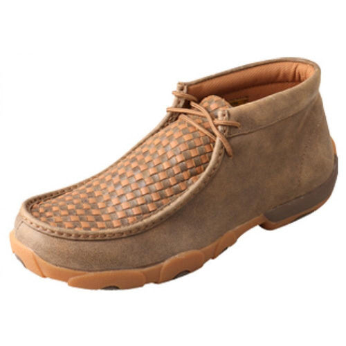 Mens Twisted X Bomber/Tan Driving Moccasins - FG Pro Shop Inc.