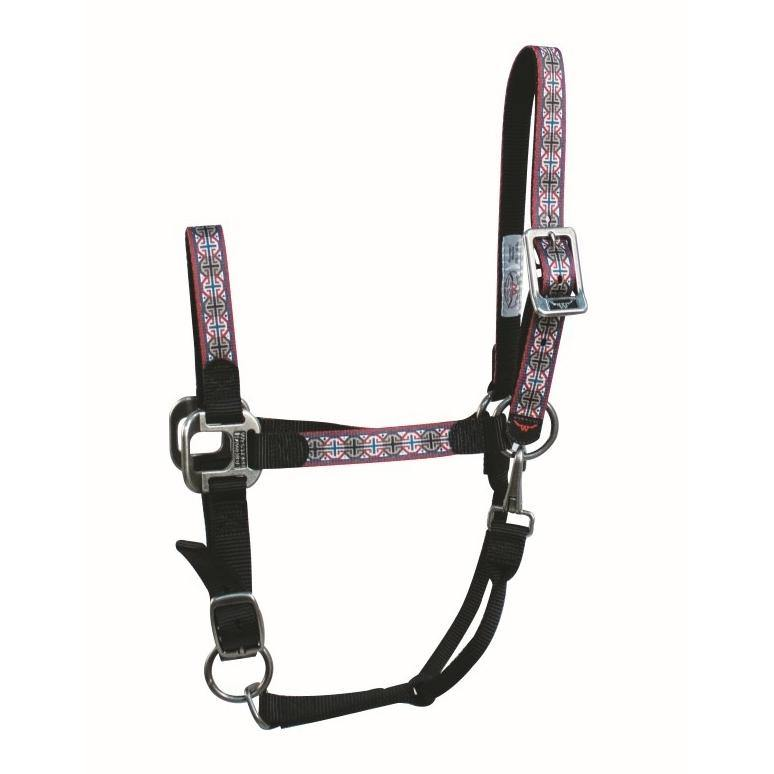 Signature Halter with Snap Black/Octagon Pattern