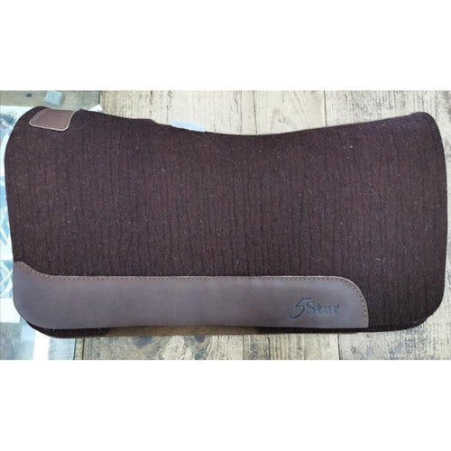 Brown 5 Star Saddle Pad 30''x28'' - FG Pro Shop Inc.