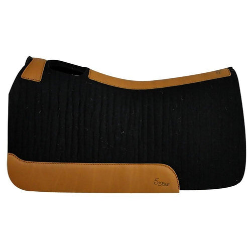Black 5 Star Saddle Pad 30''x28'' - FG Pro Shop Inc.