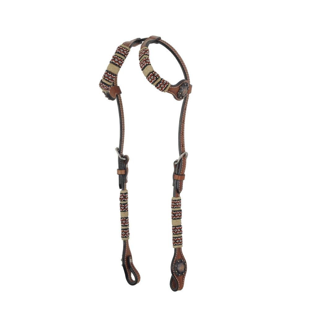 Country Legend Red Bead Two Ear Headstall