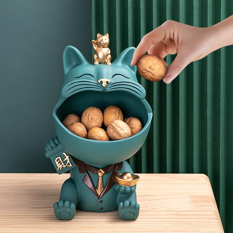 Home Decor 3D Miniature Figurine Cool CatTable Decoration Storage Box