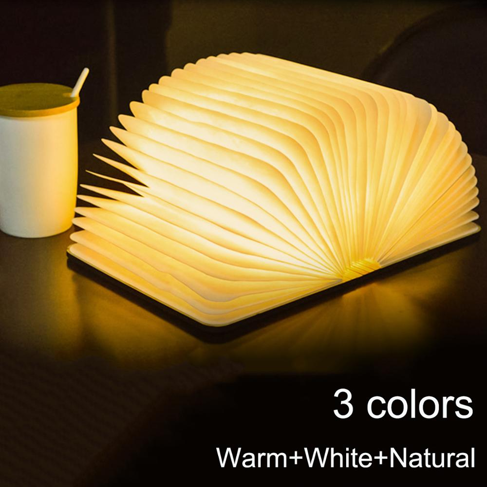 3D Creative LED Book Night Light Wooden
