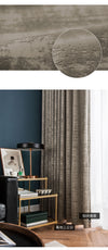 Light Luxury Gray Flannel Blackout Curtains for Bedroom Living Room