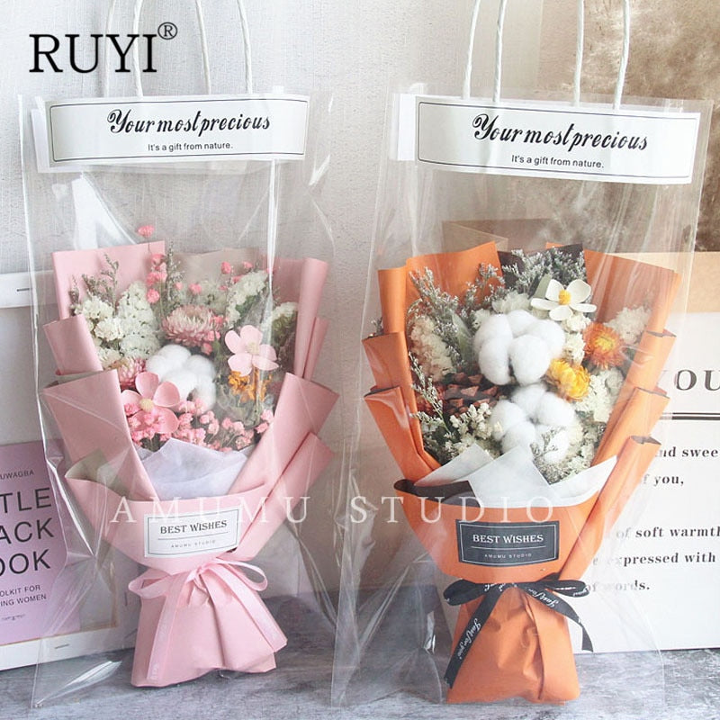 High-value Handbag Dry Bouquet, Forest Small Dried Flowers With Hand Gift