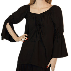 Womans Renaissance Top Pirate Top Black