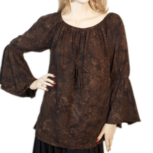 Womans Renaissance Top Pirate Top brown