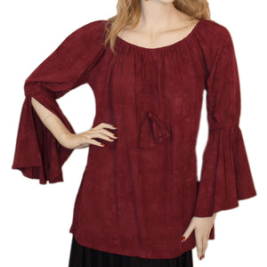 Womans Renaissance Top Pirate Top burgundy