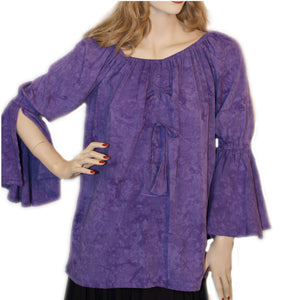 Womans Renaissance Top Pirate Top Lilac